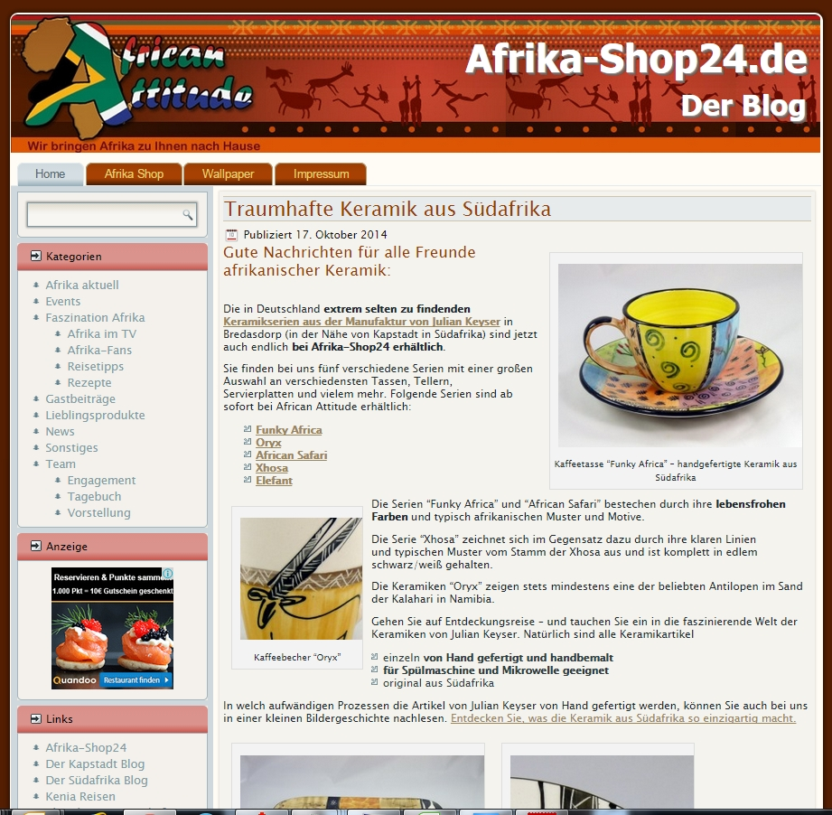 Afrika-Shop24 - Der Blog